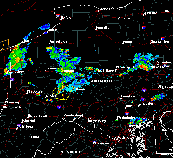 Radar Image for Severe Thunderstorms near Vintondale, PA at 9/11/2019 7:07 PM EDT