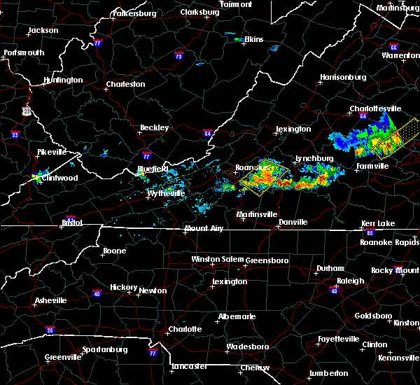 Radar Image for Severe Thunderstorms near Timberlake, VA at 9/11/2019 7:24 PM EDT