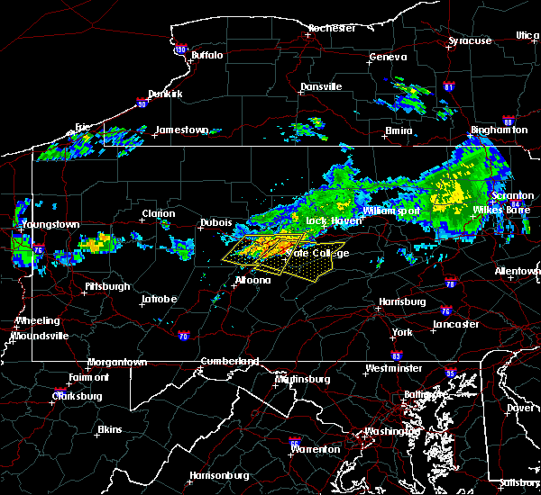 Radar Image for Severe Thunderstorms near State College, PA at 6/23/2015 9:16 AM EDT