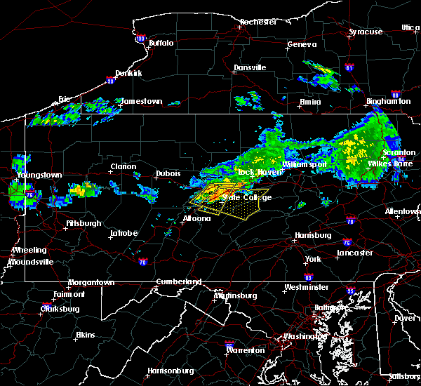 Radar Image for Severe Thunderstorms near State College, PA at 6/23/2015 9:22 AM EDT