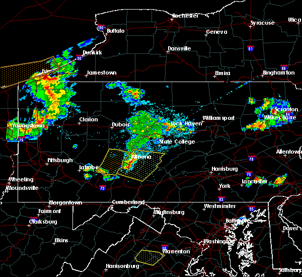 Radar Image for Severe Thunderstorms near Dunlo, PA at 9/11/2019 7:53 PM EDT