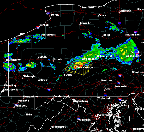 Radar Image for Severe Thunderstorms near State College, PA at 6/23/2015 9:30 AM EDT
