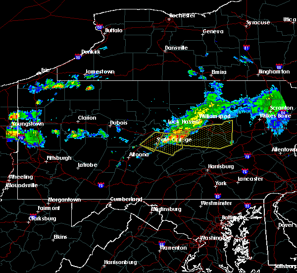 Radar Image for Severe Thunderstorms near Mifflinburg, PA at 6/23/2015 9:40 AM EDT