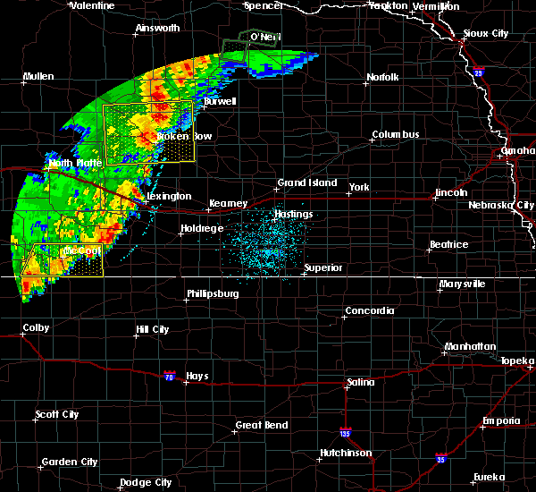 Radar Image for Severe Thunderstorms near Funk, NE at 9/11/2019 11:57 PM CDT