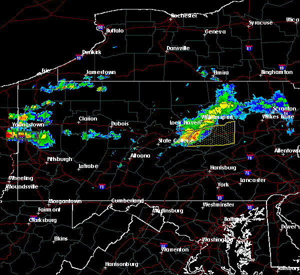 Radar Image for Severe Thunderstorms near Hummels Wharf, PA at 6/23/2015 9:52 AM EDT