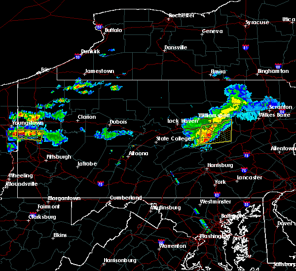 Radar Image for Severe Thunderstorms near Iola, PA at 6/23/2015 10:07 AM EDT