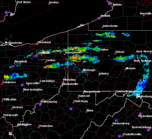 Radar Image for Severe Thunderstorms near West Pittsburg, PA at 6/23/2015 10:19 AM EDT