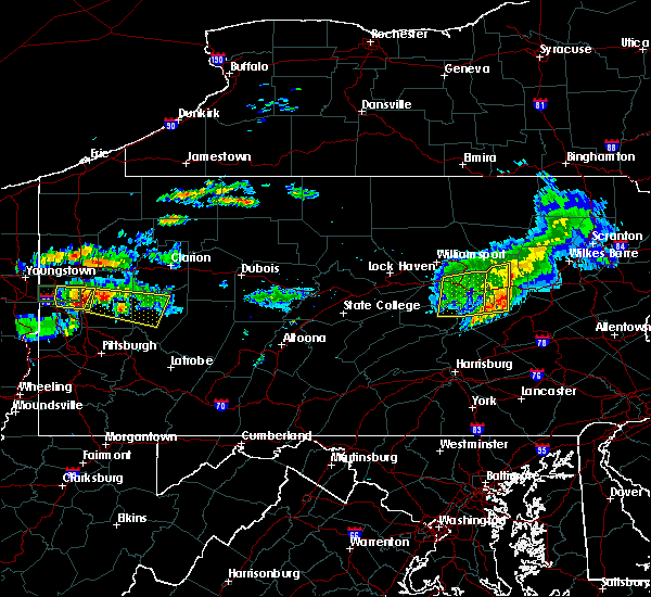 Radar Image for Severe Thunderstorms near Almedia, PA at 6/23/2015 10:28 AM EDT