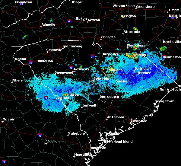 Radar Image for Severe Thunderstorms near Camden, SC at 9/12/2019 5:28 PM EDT