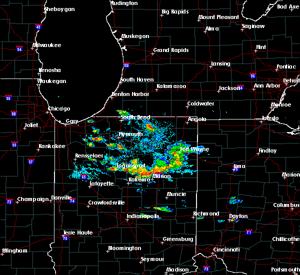 Radar Image for Severe Thunderstorms near Shipshewana, IN at 9/12/2019 6:33 PM EDT