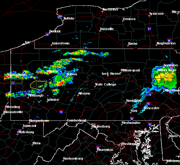 Radar Image for Severe Thunderstorms near Ramey, PA at 6/23/2015 11:27 AM EDT