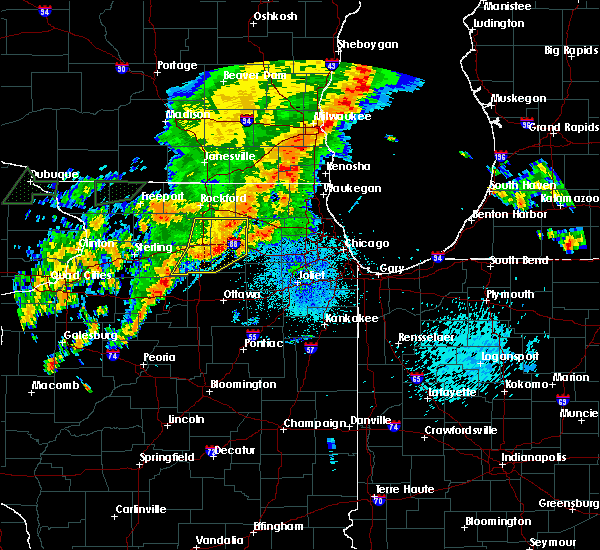 Radar Image for Severe Thunderstorms near Elgin, IL at 9/13/2019 12:55 AM CDT