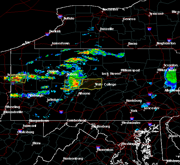 Radar Image for Severe Thunderstorms near Pine Grove Mills, PA at 6/23/2015 11:53 AM EDT
