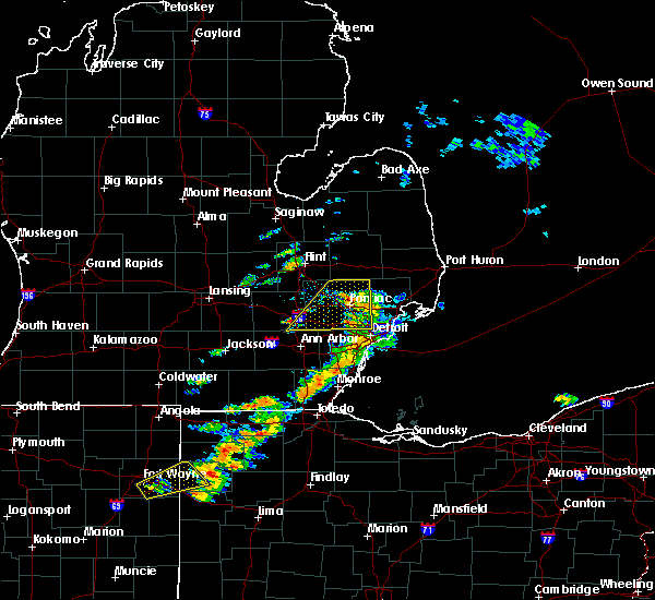 Radar Image for Severe Thunderstorms near Toledo, OH at 9/13/2019 3:58 PM EDT