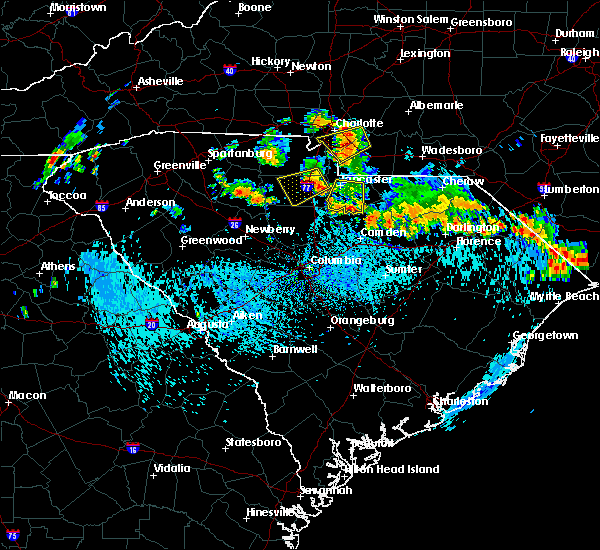 Radar Image for Severe Thunderstorms near Kershaw, SC at 9/13/2019 3:59 PM EDT