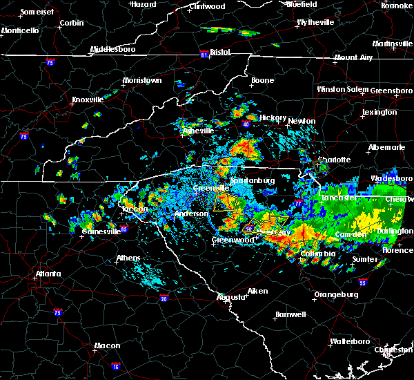 Radar Image for Severe Thunderstorms near Tryon, NC at 9/13/2019 5:16 PM EDT