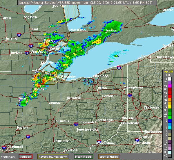 Radar Image for Severe Thunderstorms near New Riegel, OH at 9/13/2019 5:59 PM EDT