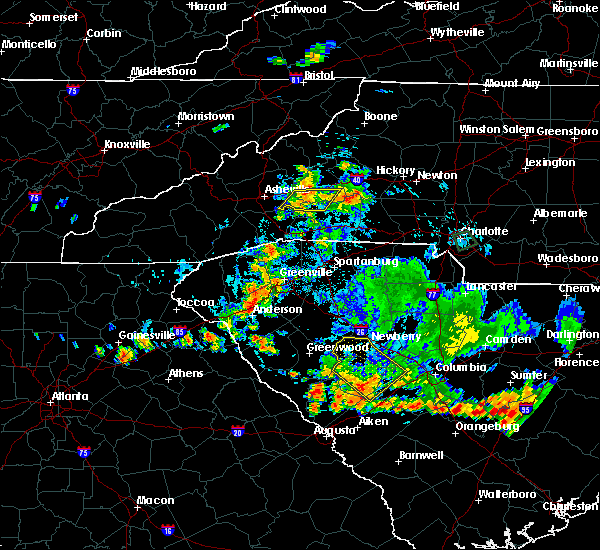 Radar Image for Severe Thunderstorms near Chimney Rock Village, NC at 9/13/2019 6:39 PM EDT