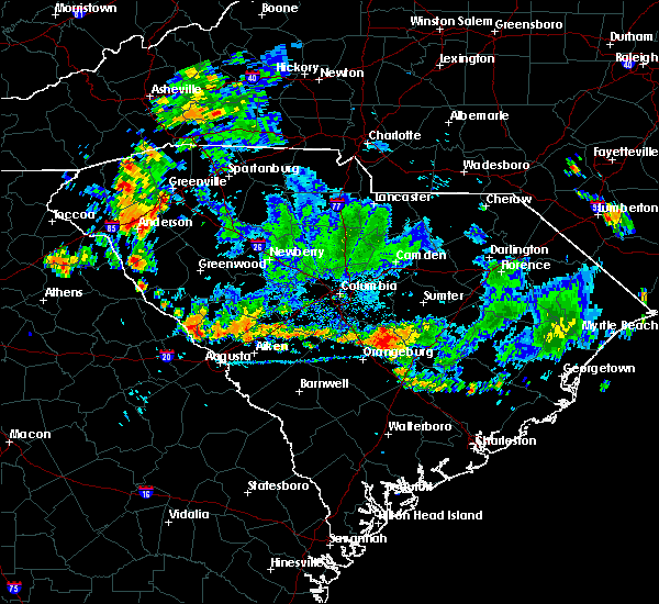 Radar Image for Severe Thunderstorms near Cameron, SC at 9/13/2019 7:07 PM EDT