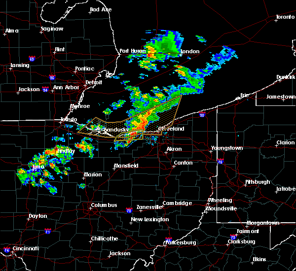 Radar Image for Severe Thunderstorms near Sheffield Lake, OH at 9/13/2019 7:40 PM EDT