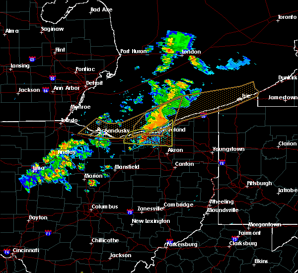Radar Image for Severe Thunderstorms near Eastlake, OH at 9/13/2019 8:07 PM EDT