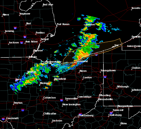 Radar Image for Severe Thunderstorms near Eastlake, OH at 9/13/2019 8:25 PM EDT