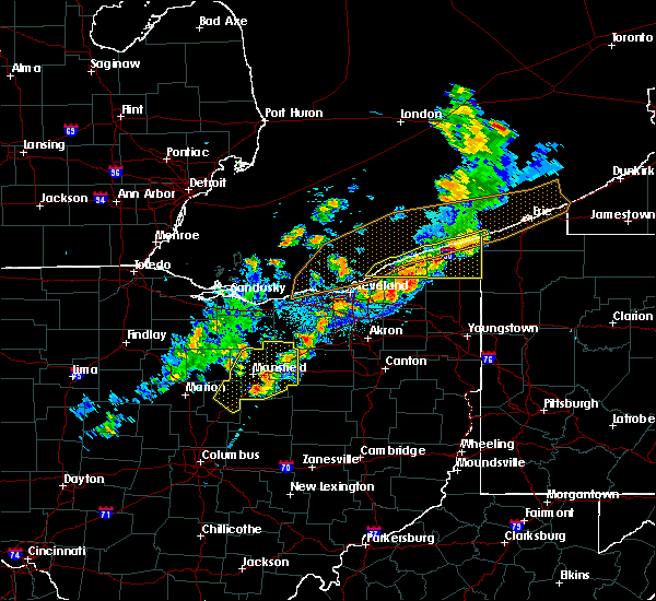 Radar Image for Severe Thunderstorms near Roaming Shores, OH at 9/13/2019 9:08 PM EDT