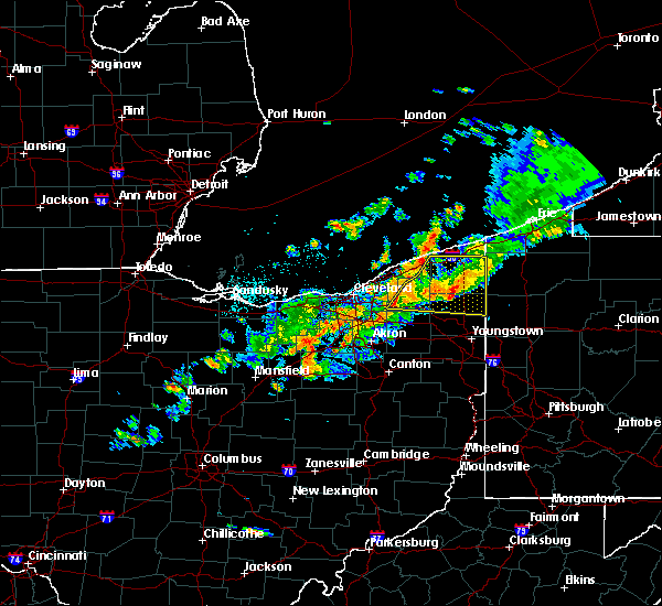 Radar Image for Severe Thunderstorms near Roaming Shores, OH at 9/13/2019 9:59 PM EDT