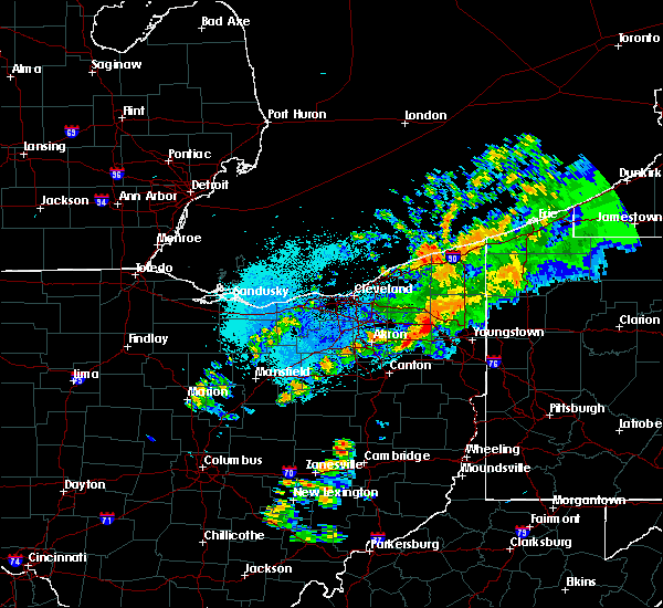 Radar Image for Severe Thunderstorms near Girard, OH at 9/13/2019 11:02 PM EDT
