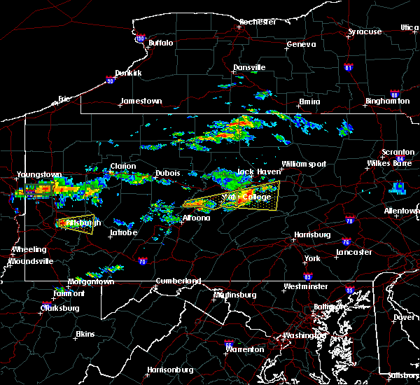 Radar Image for Severe Thunderstorms near State College, PA at 6/23/2015 12:40 PM EDT
