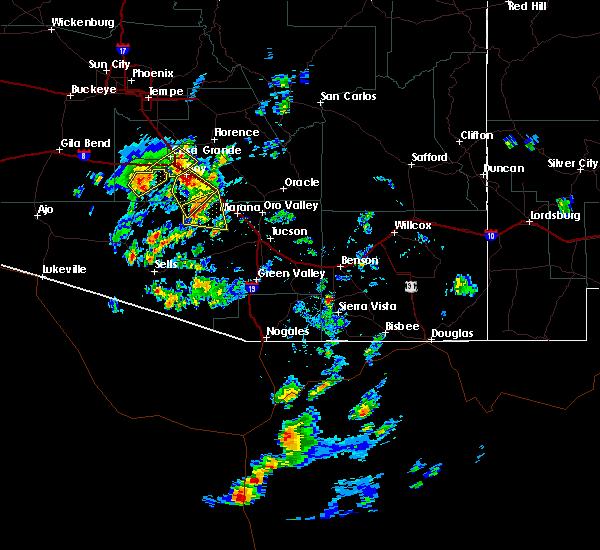 Radar Image for Severe Thunderstorms near Marana, AZ at 9/16/2019 2:39 PM MST
