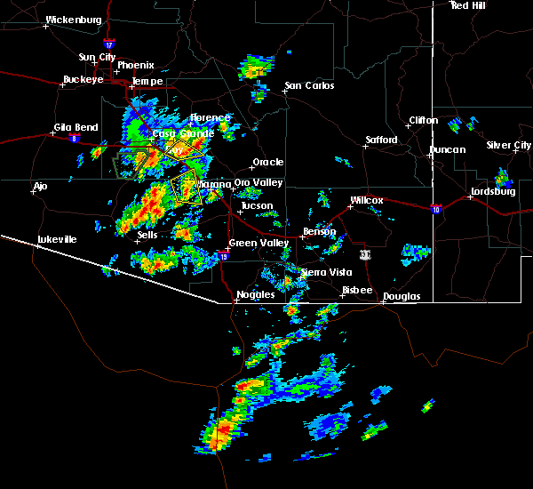 Radar Image for Severe Thunderstorms near Marana, AZ at 9/16/2019 2:57 PM MST