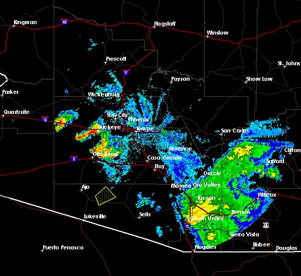 Radar Image for Severe Thunderstorms near Goodyear, AZ at 9/16/2019 7:25 PM MST