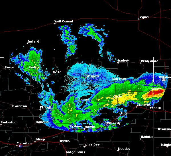 Radar Image for Severe Thunderstorms near Alexander, ND at 9/17/2019 8:52 PM CDT