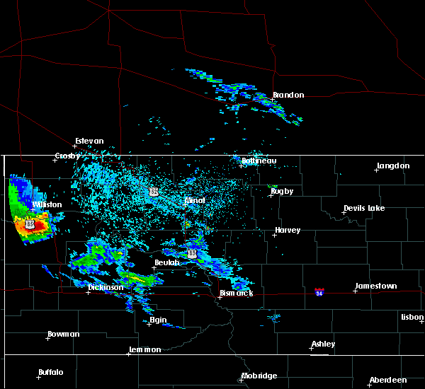 Radar Image for Severe Thunderstorms near Alexander, ND at 9/17/2019 9:22 PM CDT