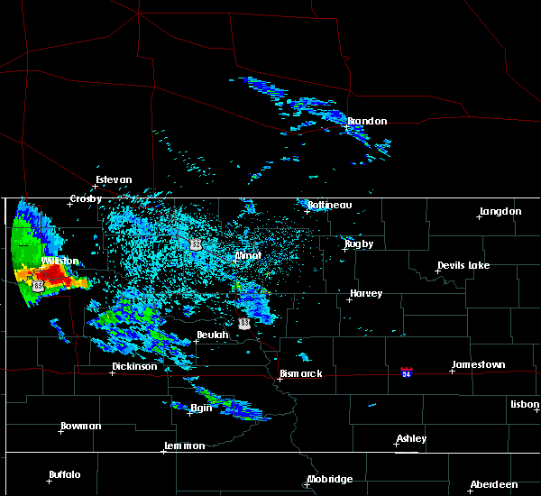 Radar Image for Severe Thunderstorms near Williston, ND at 9/17/2019 9:36 PM CDT
