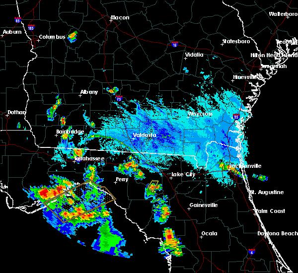 Radar Image for Severe Thunderstorms near Branford, FL at 9/18/2019 6:54 PM EDT