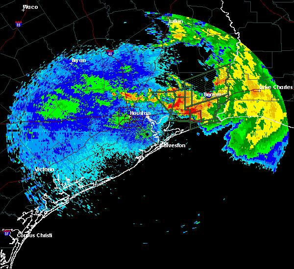 Radar Image for Severe Thunderstorms near Fannett, TX at 9/18/2019 11:50 PM CDT