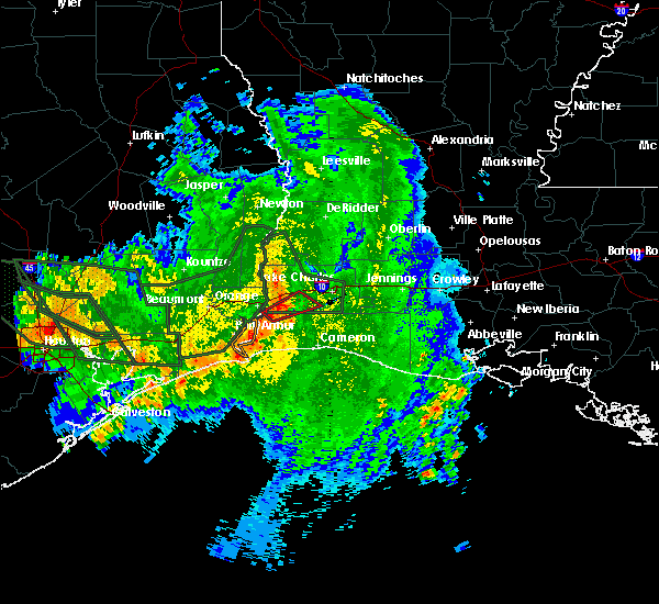 Radar Image for Severe Thunderstorms near Carlyss, LA at 9/19/2019 10:06 AM CDT