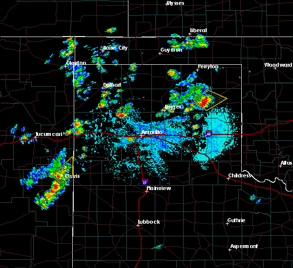 Radar Image for Severe Thunderstorms near Canadian, TX at 9/19/2019 2:38 PM CDT