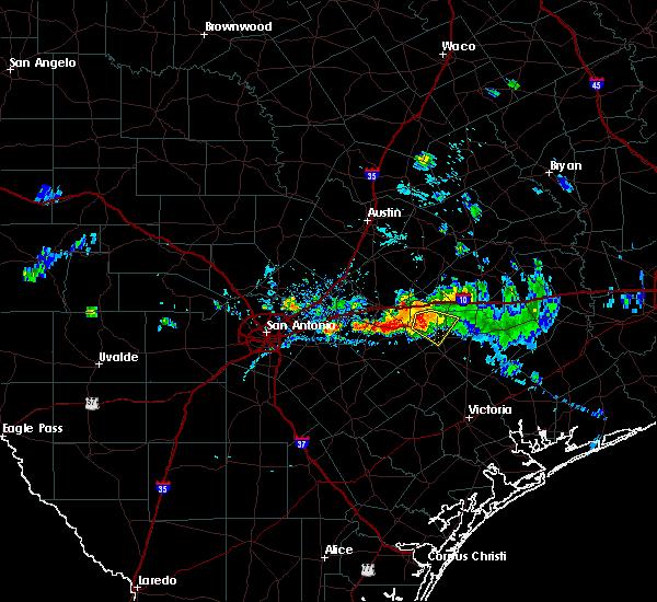 Radar Image for Severe Thunderstorms near Shiner, TX at 9/19/2019 7:33 PM CDT