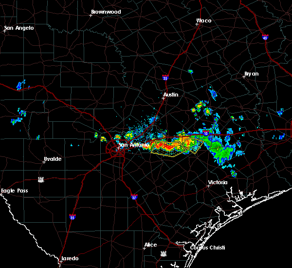 Radar Image for Severe Thunderstorms near Gonzales, TX at 9/19/2019 7:53 PM CDT