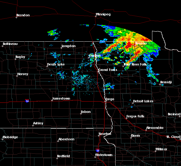 Radar Image for Severe Thunderstorms near Roseau, MN at 9/20/2019 12:47 PM CDT