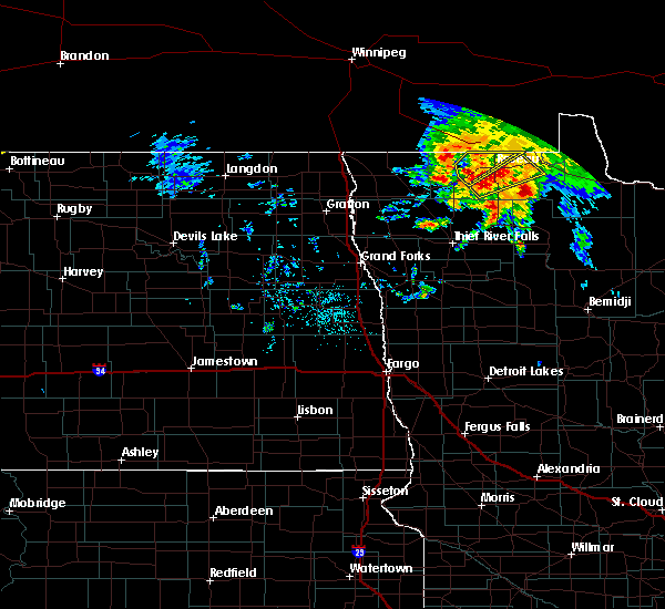 Radar Image for Severe Thunderstorms near Warroad, MN at 9/20/2019 1:33 PM CDT