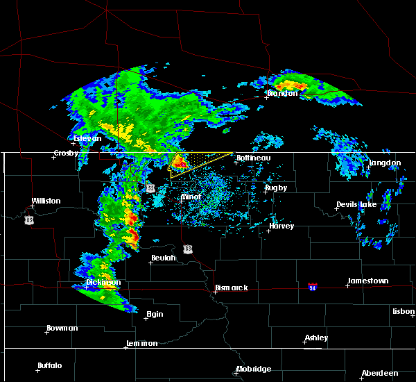 Radar Image for Severe Thunderstorms near Westhope, ND at 9/20/2019 1:40 PM CDT