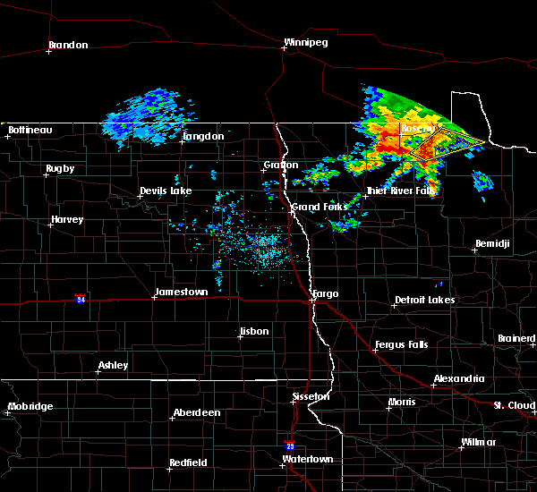 Radar Image for Severe Thunderstorms near Warroad, MN at 9/20/2019 1:56 PM CDT