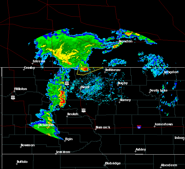 Radar Image for Severe Thunderstorms near Westhope, ND at 9/20/2019 1:56 PM CDT