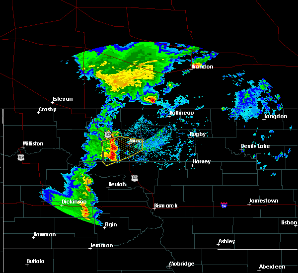 Radar Image for Severe Thunderstorms near Ryder, ND at 9/20/2019 2:25 PM CDT