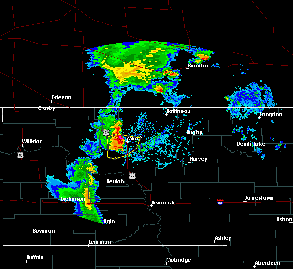 Radar Image for Severe Thunderstorms near Surrey, ND at 9/20/2019 2:45 PM CDT