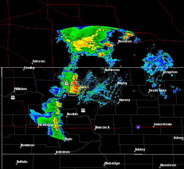 Radar Image for Severe Thunderstorms near Lansford, ND at 9/20/2019 2:50 PM CDT